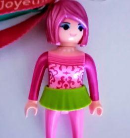 "Porte clé Playmobil ""anniversaire"", bijou de sac"