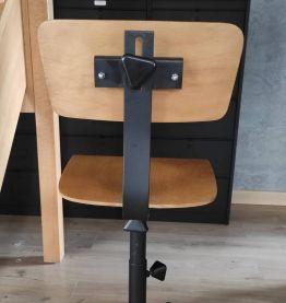 Chaise d'atelier industrielle