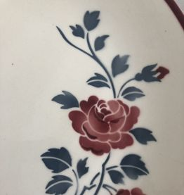 Plat de service - Demi porcelaine Badonviller