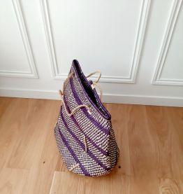 panier violet du Ghana avec hanse