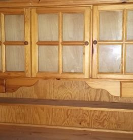 Grand bahut buffet en bois blanc ( ref N9 )