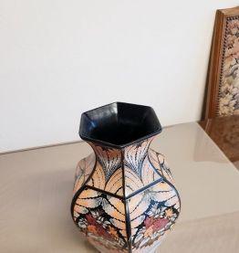 Vase céramique dorée fleur de rose ( ref K 36)