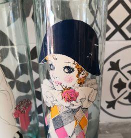 Bocaux en verre Arlequin et Pierrot