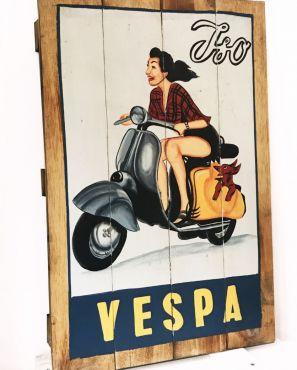 """Tableau en bois style palette Vespa """"Iso"""""""
