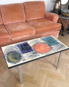 Table basse design vintage céramique Juliette Belarti