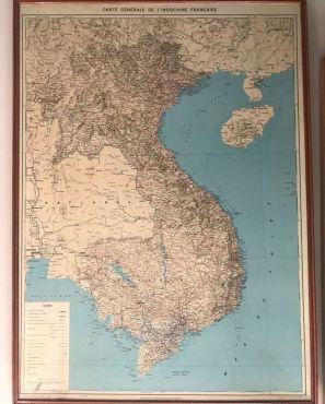 Carte Générale de l'Indochine Française 1948