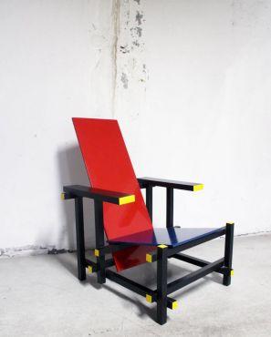 RARE Chaise Rouge & Bleue par Gerrit Thomas Rietveld