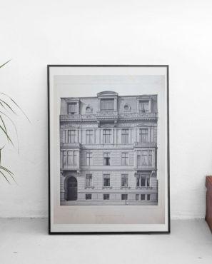 Illustration architecturale Berlin Wohnhaus 19ème