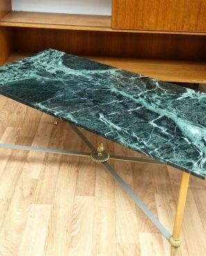 Table basse marbre vert des Alpes 1906´s