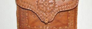 Années Marocain Véritable 60 Main À Sac Vintage Cuir b6gf7y