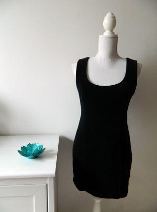 Robe moulante en velours noire vintage 90's