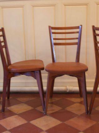 Série de quatre chaises Monobloc années 50/60