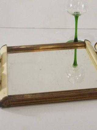 Plateau miroir art déco des Années 1930