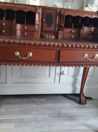 Secrétaire en teck colonial tiroirs secret