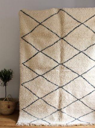 Grand tapis Beni ouarain tissé main au Maroc (2M50 sur 1M80)
