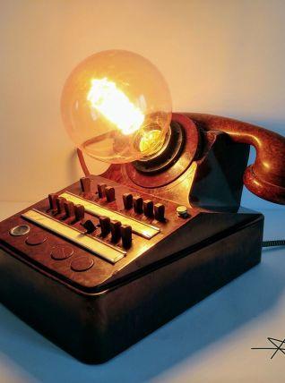 """Lampe industrielle, lampe vintage - """"Brown Phone'"""""""