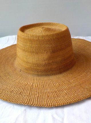 Ancien grand chapeau de paille