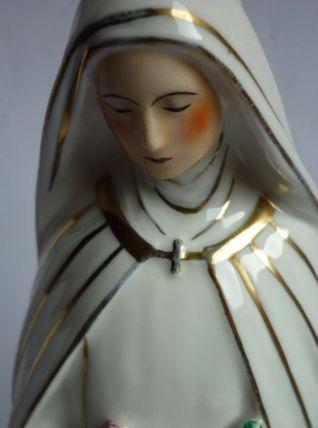 Vierge lampe porcelaine
