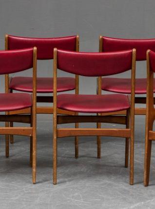 6 Chaises en hêtre