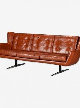 Canapé trois places en cuir – Skjold Sorensen