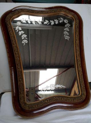 miroir graver vintage 1920