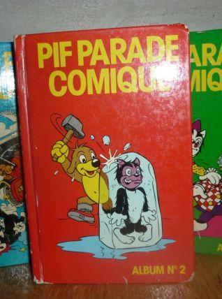 Lot de 3 albums PIF Parade Comique (Pif Gadget)