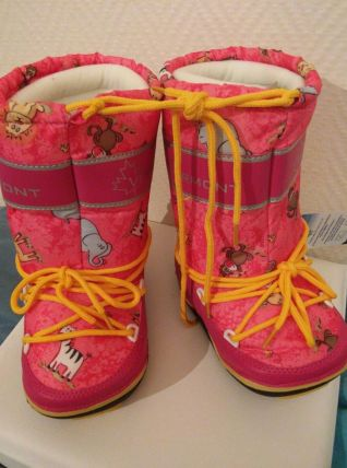 Après-ski enfant imperméable Rose Animaux 29-31