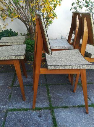 Série de six chaises scandinaves années 50