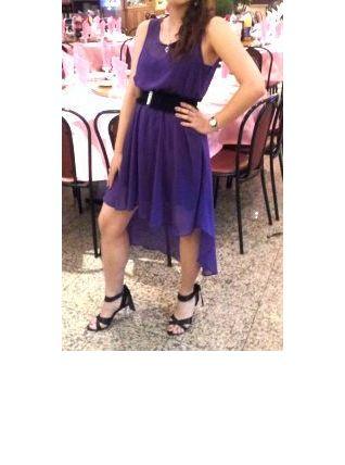 Robe asymétrique maxi midi violet New Look