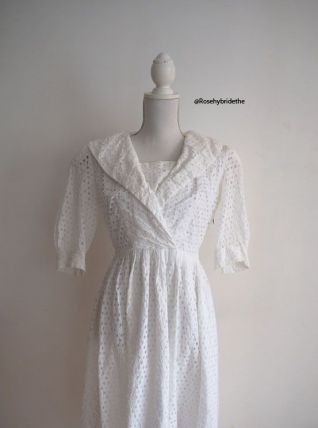 Robe New Look broderie anglaise blanche vintage 50's