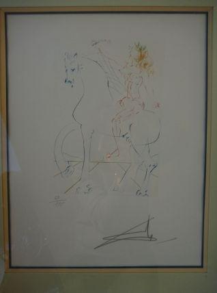 """""""Le triomphe""""DALI 1973 Gravure originale, pointe-sèche, sign"""