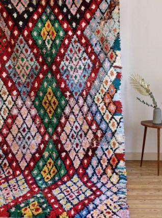 Grand tapis boucherouite berbère