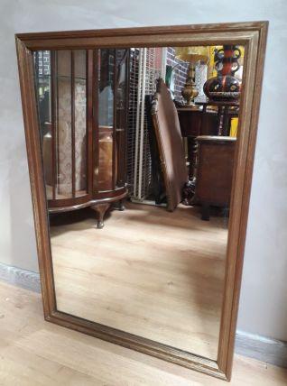 grand miroir chene massif