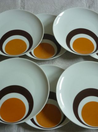 10 assiettes vintage porcelaine Winterling