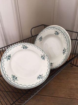 Série 4 assiettes plates et 4 assiettes creuses