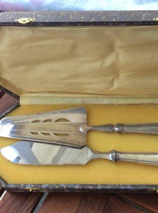 Service plaqué argent à Pelle et couteau à poisson en inox f