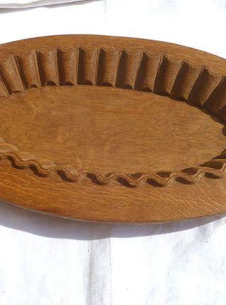 plat  en  bois  massif , vintage