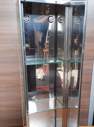 petite armoire miroir inox 70s