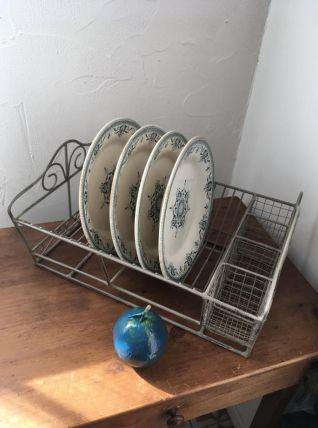 Egouttoir à vaisselle en fer rétro.