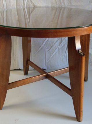 Table basse ronde style scandinave