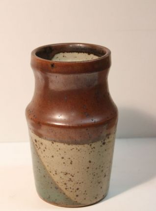 Vase en grès émaillé tricolore