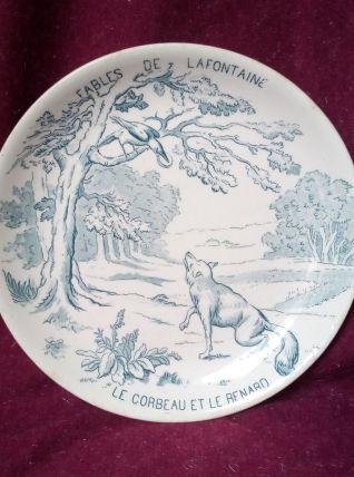 Assiette Gien - Fables de La Fontaine N° 7