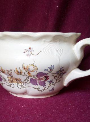 Pot de chambre U&C Sarreguemines - Orchidées