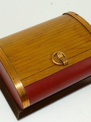 boite 50's bois et cuivre