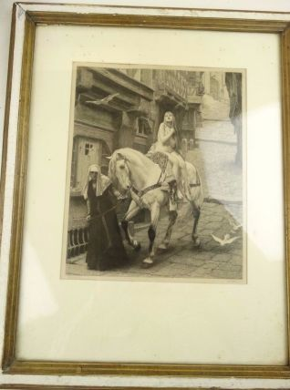 GRAVURE DIDIER pour LEFEBVRE LADY GODIVA 1890