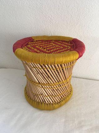 Tabouret indien style bohème .