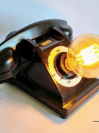 """Lampe industrielle, lampe vintage - """"Noeud Pap'"""""""