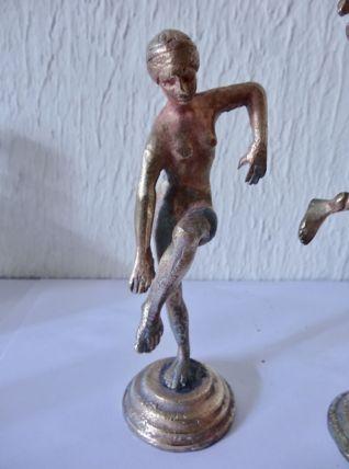2 anciennes statuettes bronze