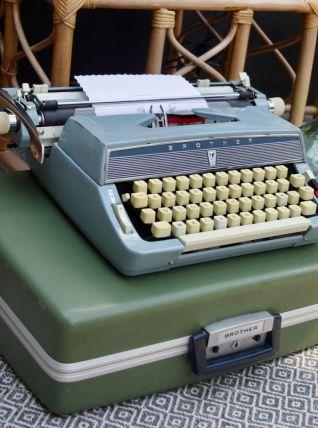 Machine à écrire portable Brother années 50
