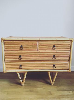 Commode vintage bambou